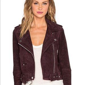 Blank NYC Plum Suede Moto Jacket